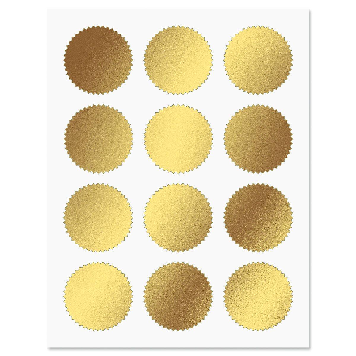 Gold Certificate Seals