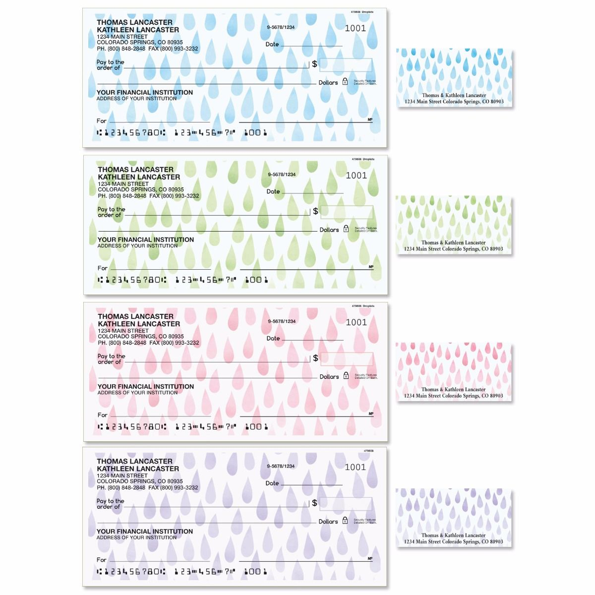 Droplets Single Checks with Matching Address Labels