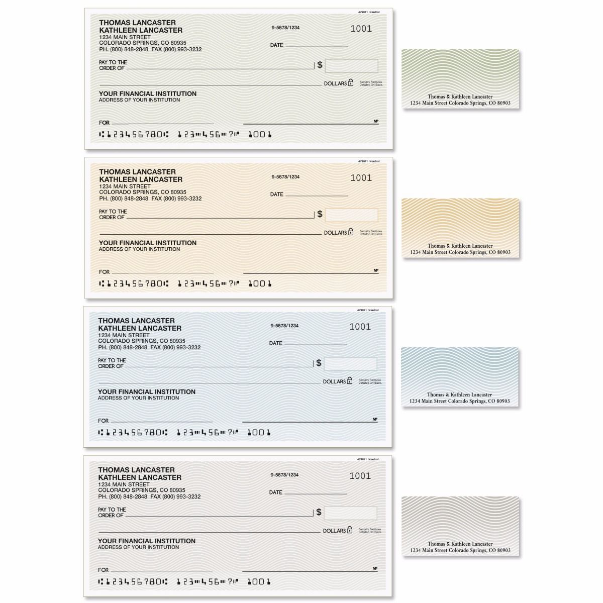 Neutral Single Checks With Matching Address Labels