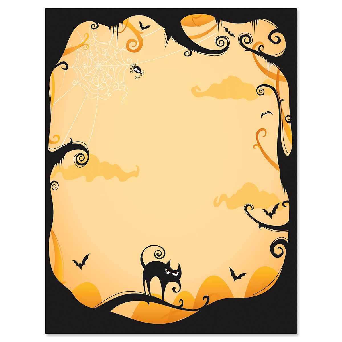 Orange Fright Night Halloween Letter Papers