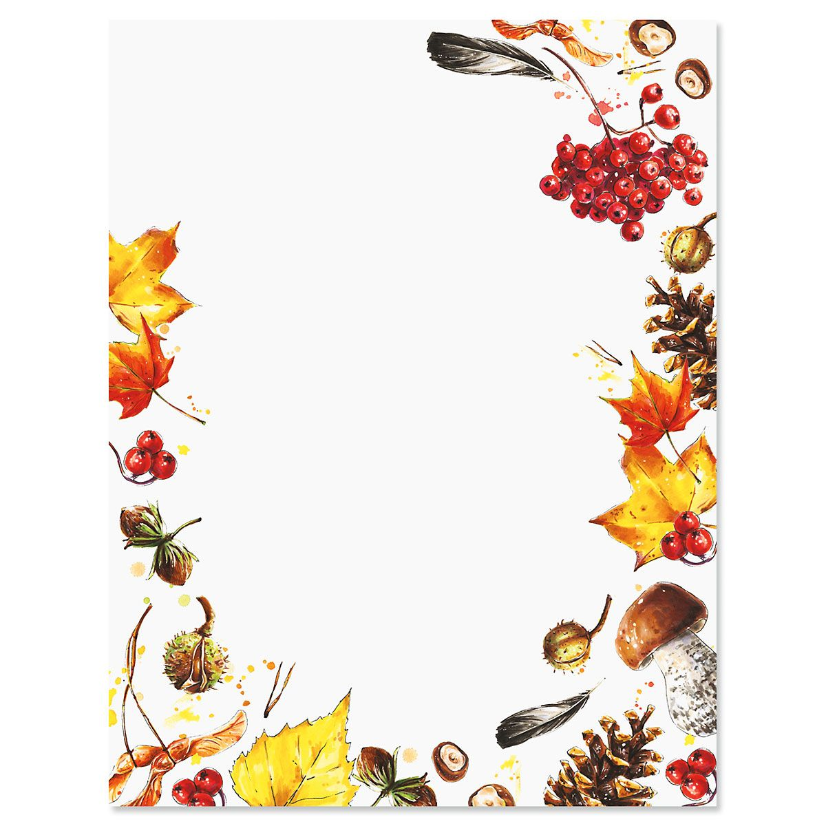 Splash of Harvest Halloween Letter Papers