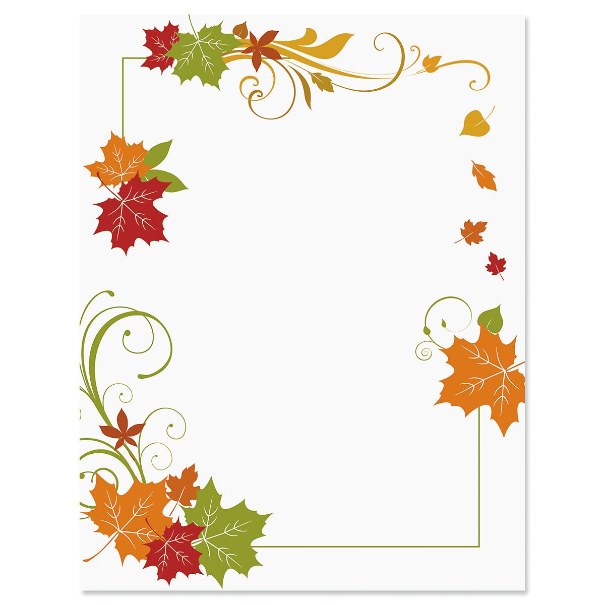 Fall Flourish Frame Halloween Letter Papers