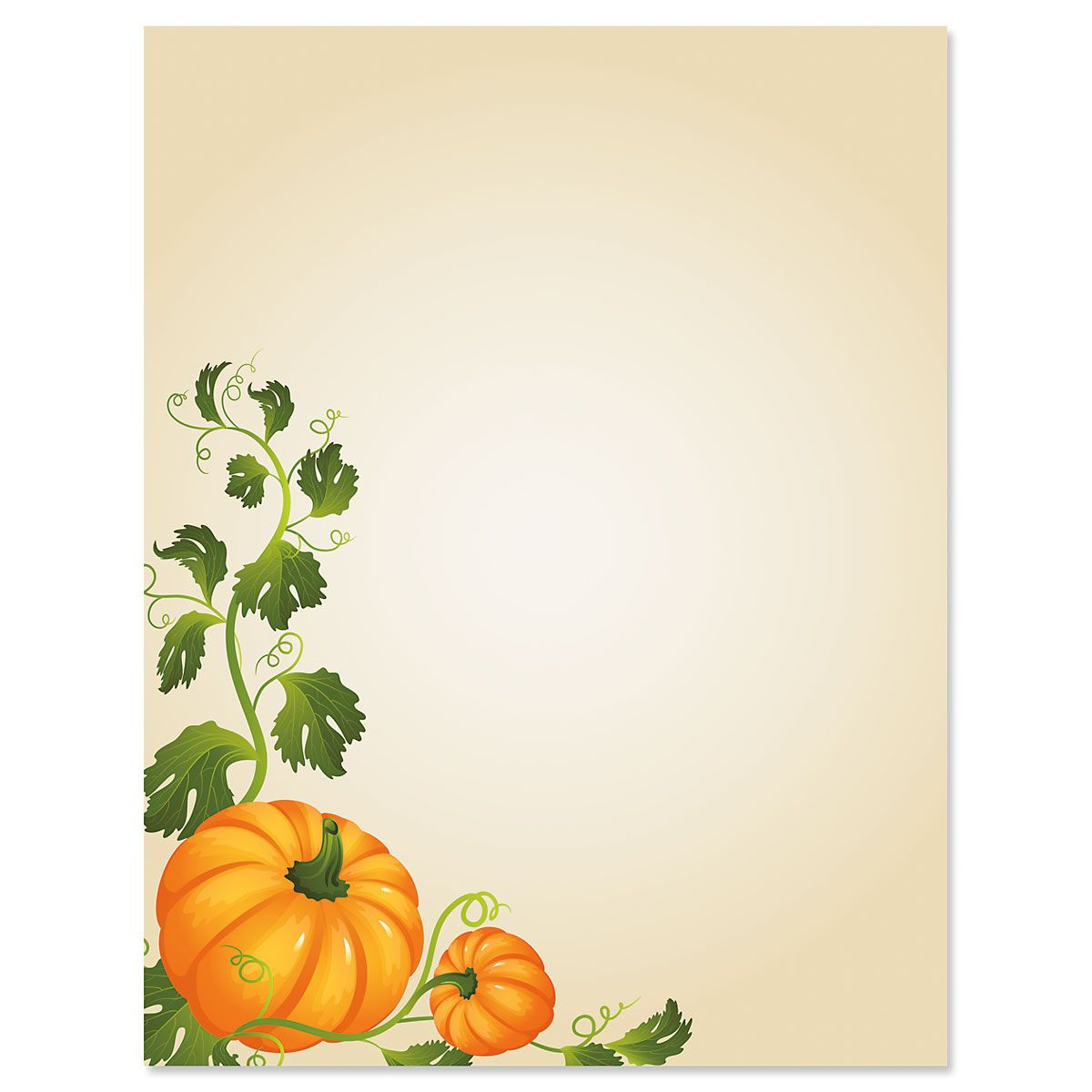 Pumpkin Vines Halloween Letter Papers