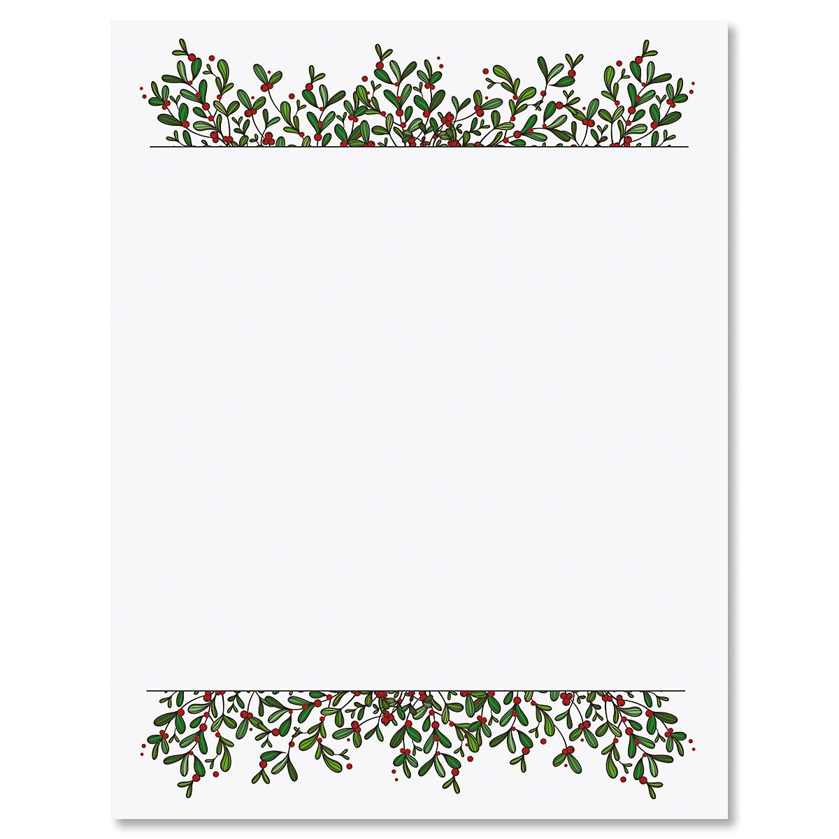 Mistletoe Frame Christmas Letter Papers