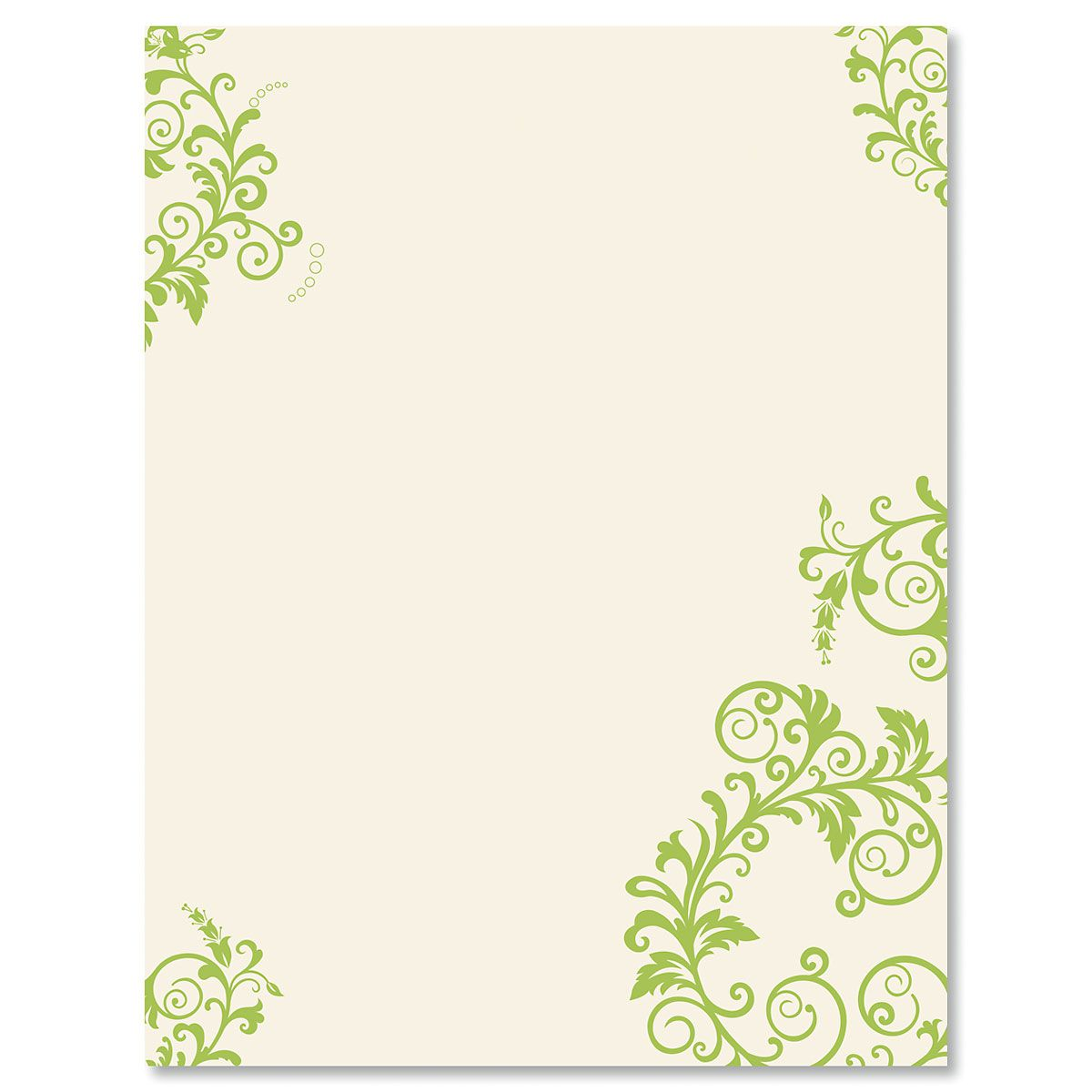 Spring Green Flourish Easter Letter Papers