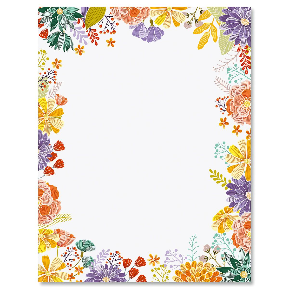 Wildflower Frame Easter Letter Papers