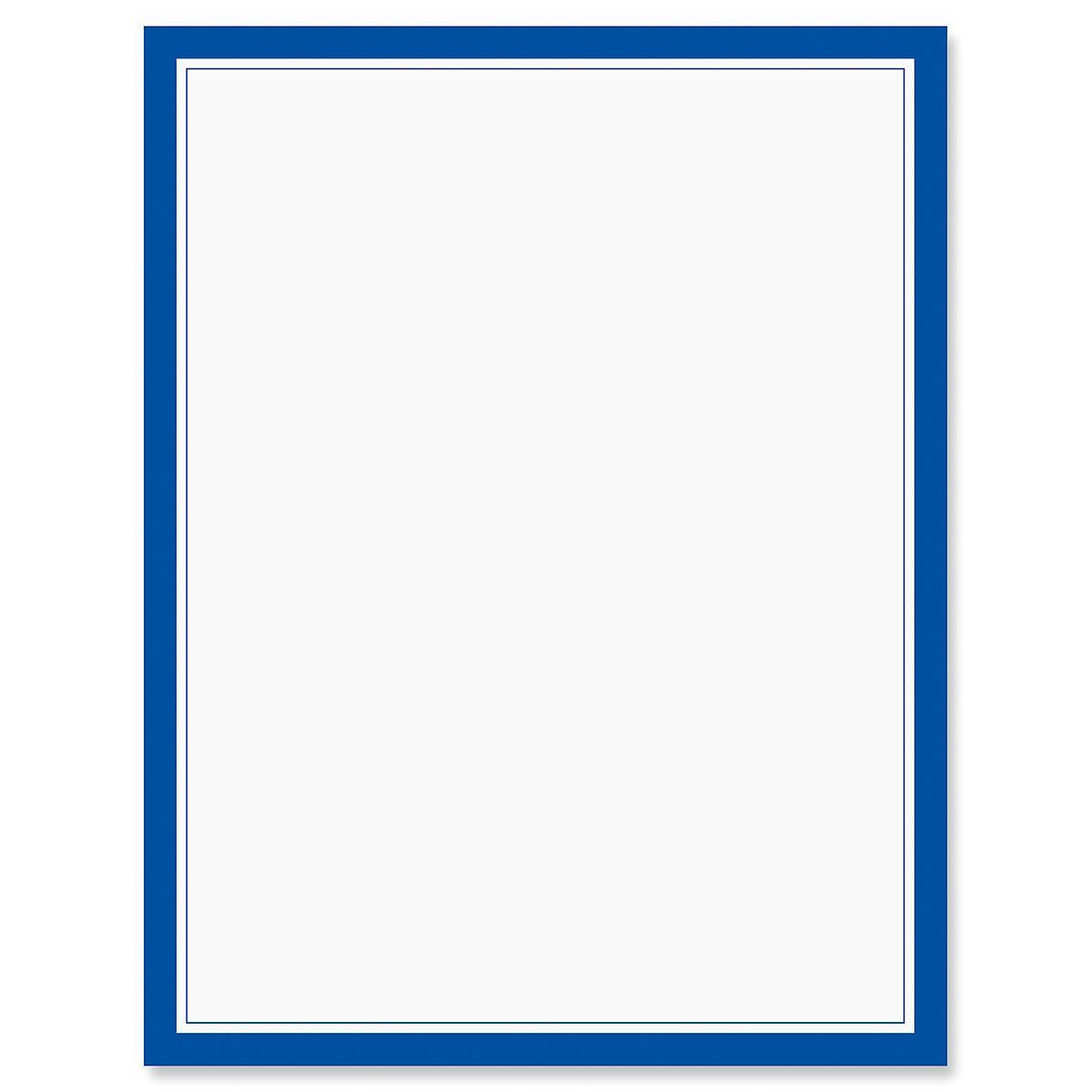Blue Frame Patriotic Letter Papers