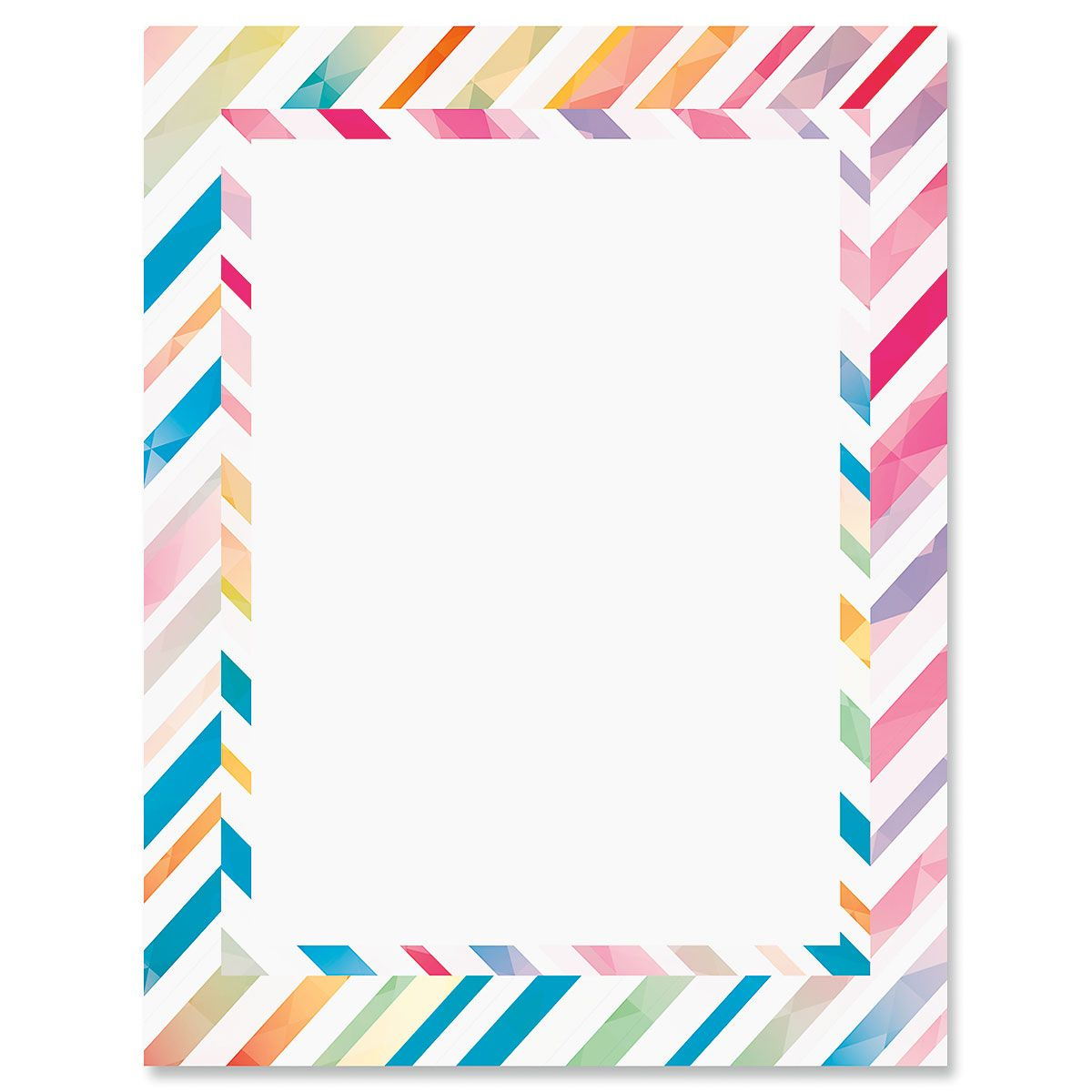 Stripe Rainbow Letter Papers