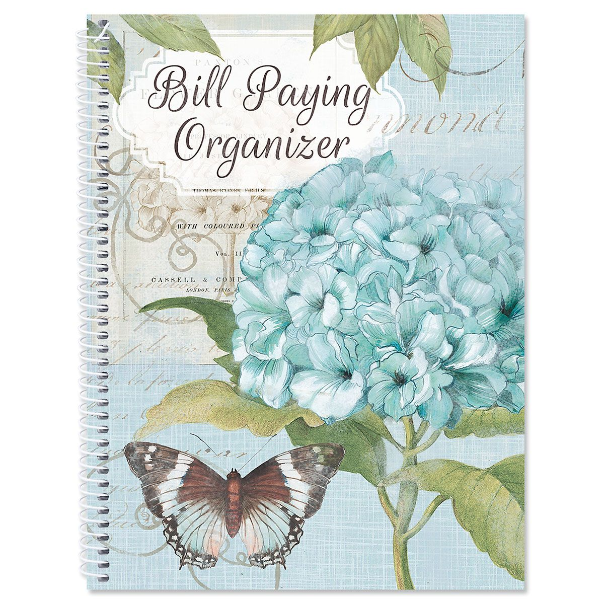 Hydrangea Nature Bill Paying Organizer