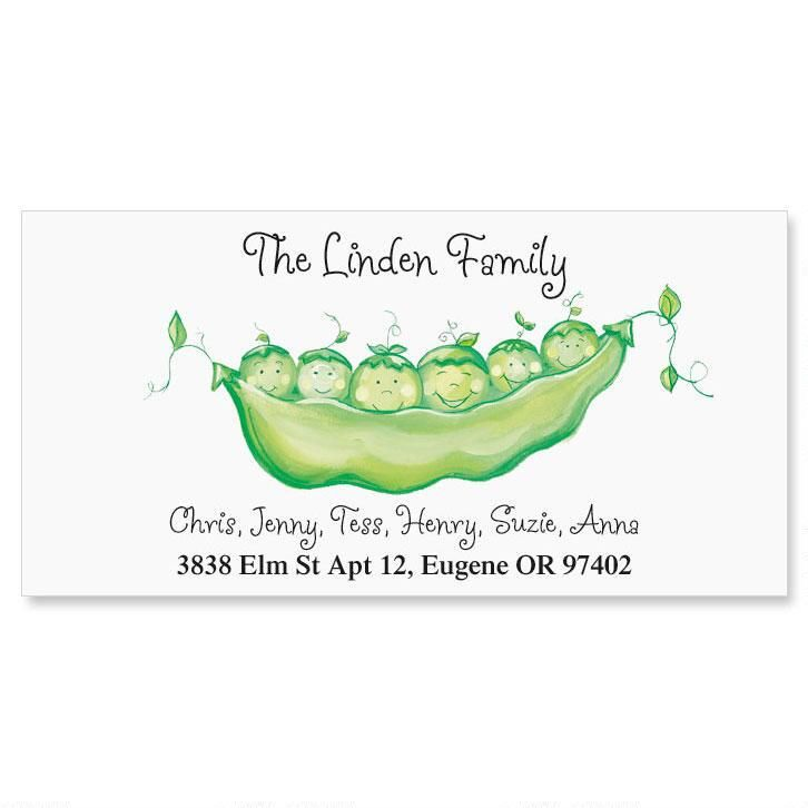 Peas In A Pod Deluxe Address Labels