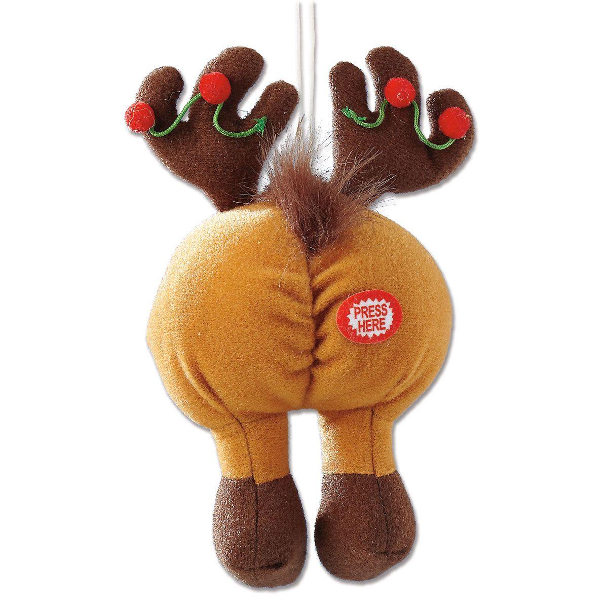 Tootin' Tushie Reindeer Christmas Ornament