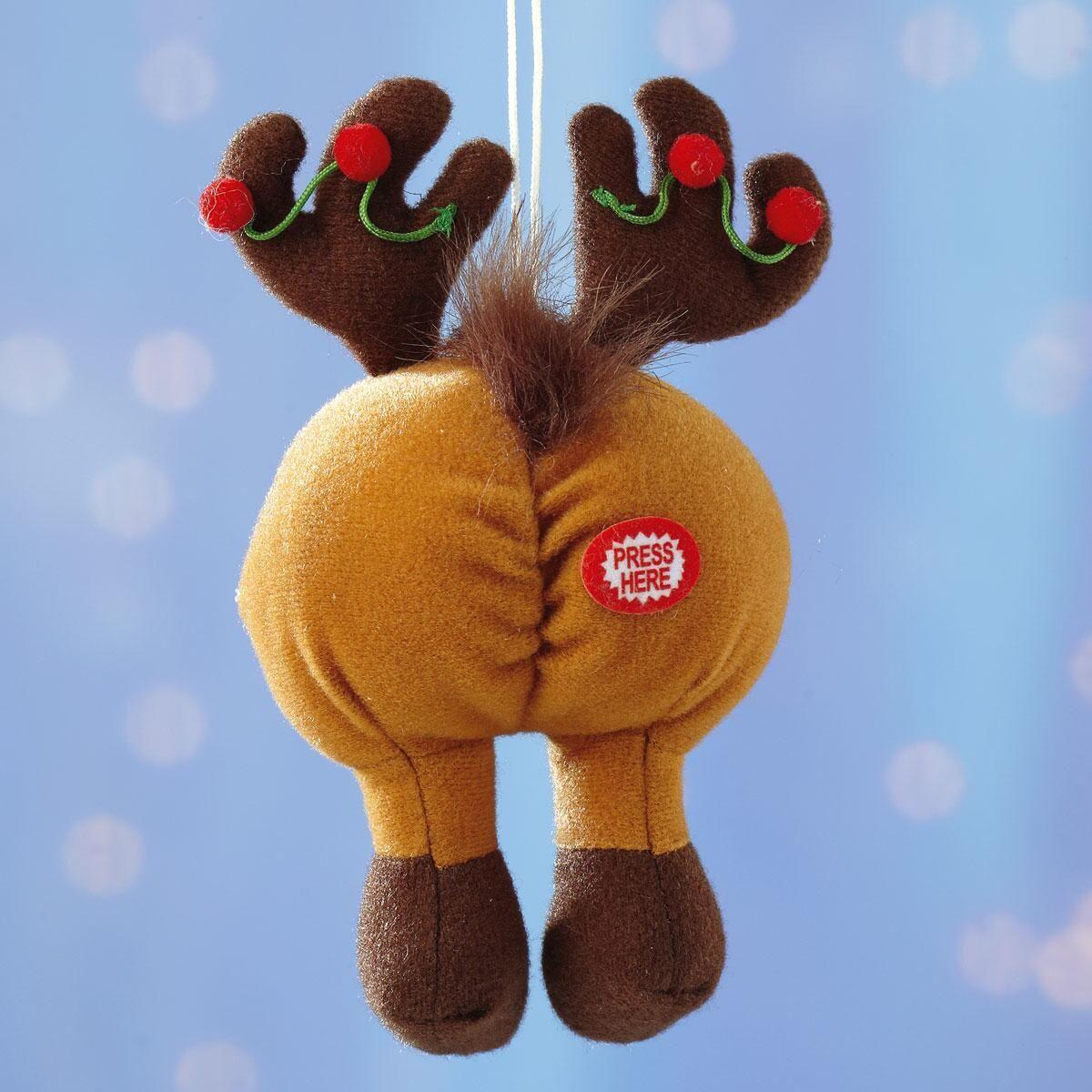 Tootin' Tushie Reindeer Ornament