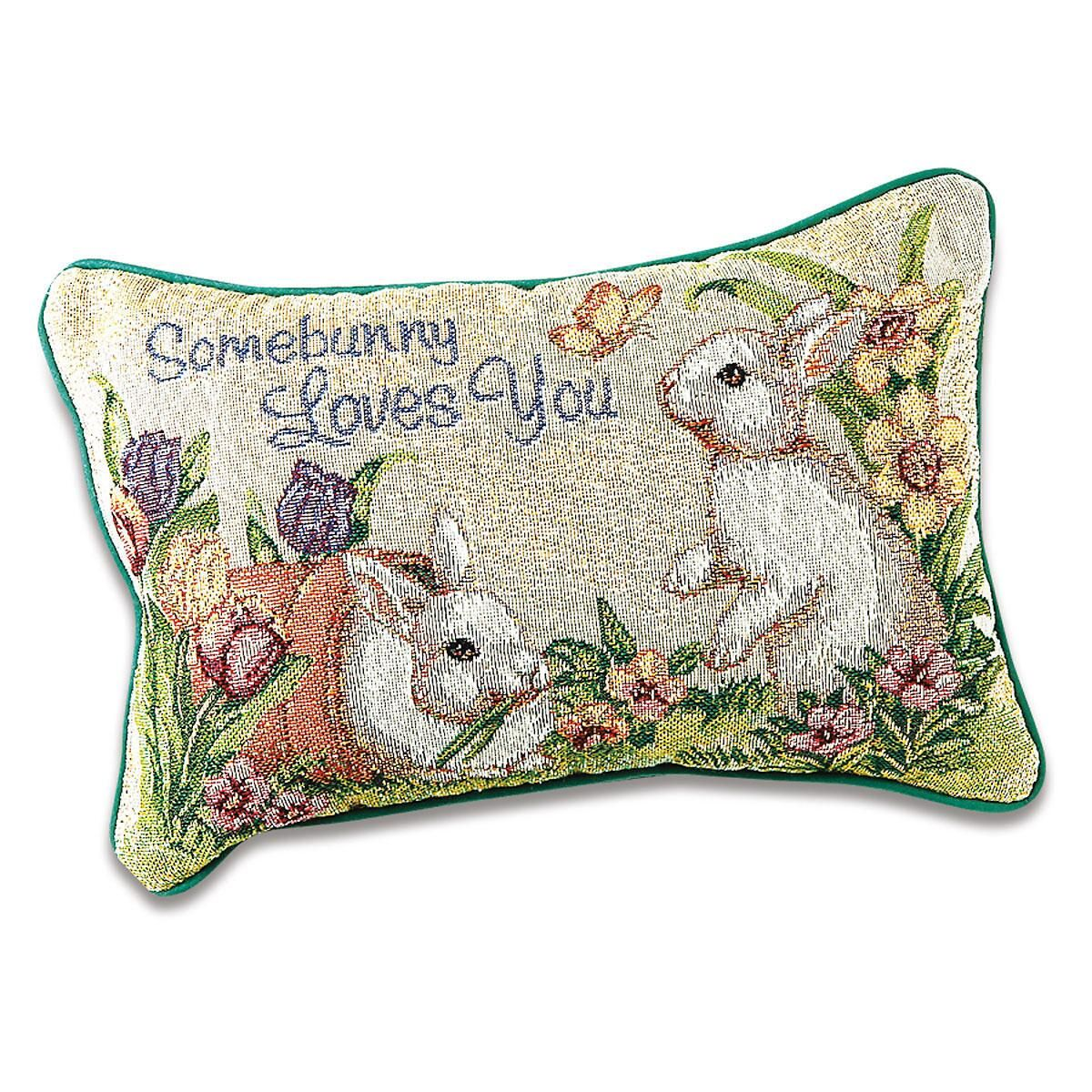 Somebunny Loves You Decorative Pillow