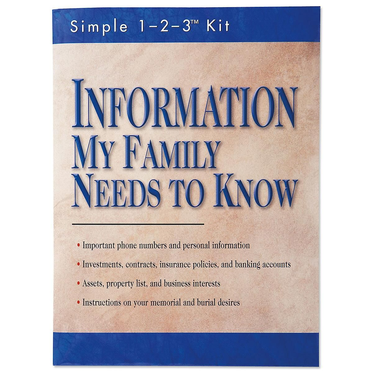 Information My Family Needs to Know Kit