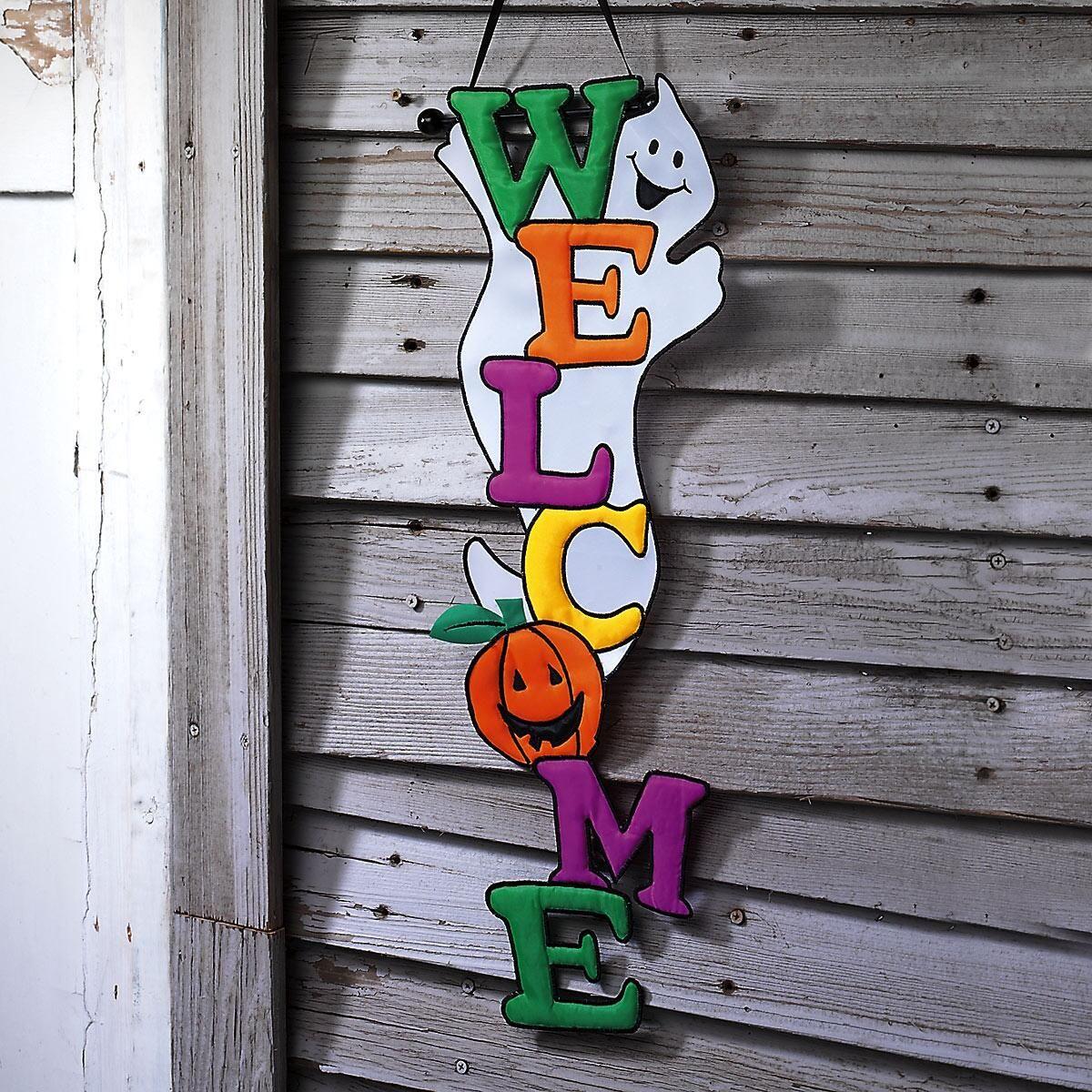 Halloween Welcome Door Banner