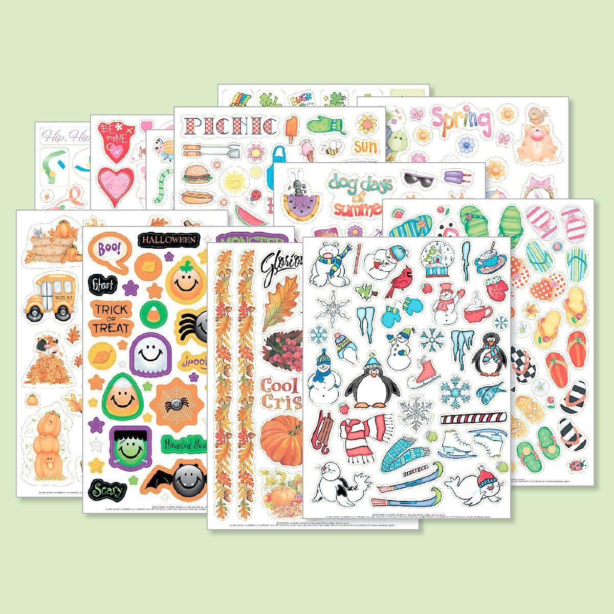 Year-Round Sticker Value Pack