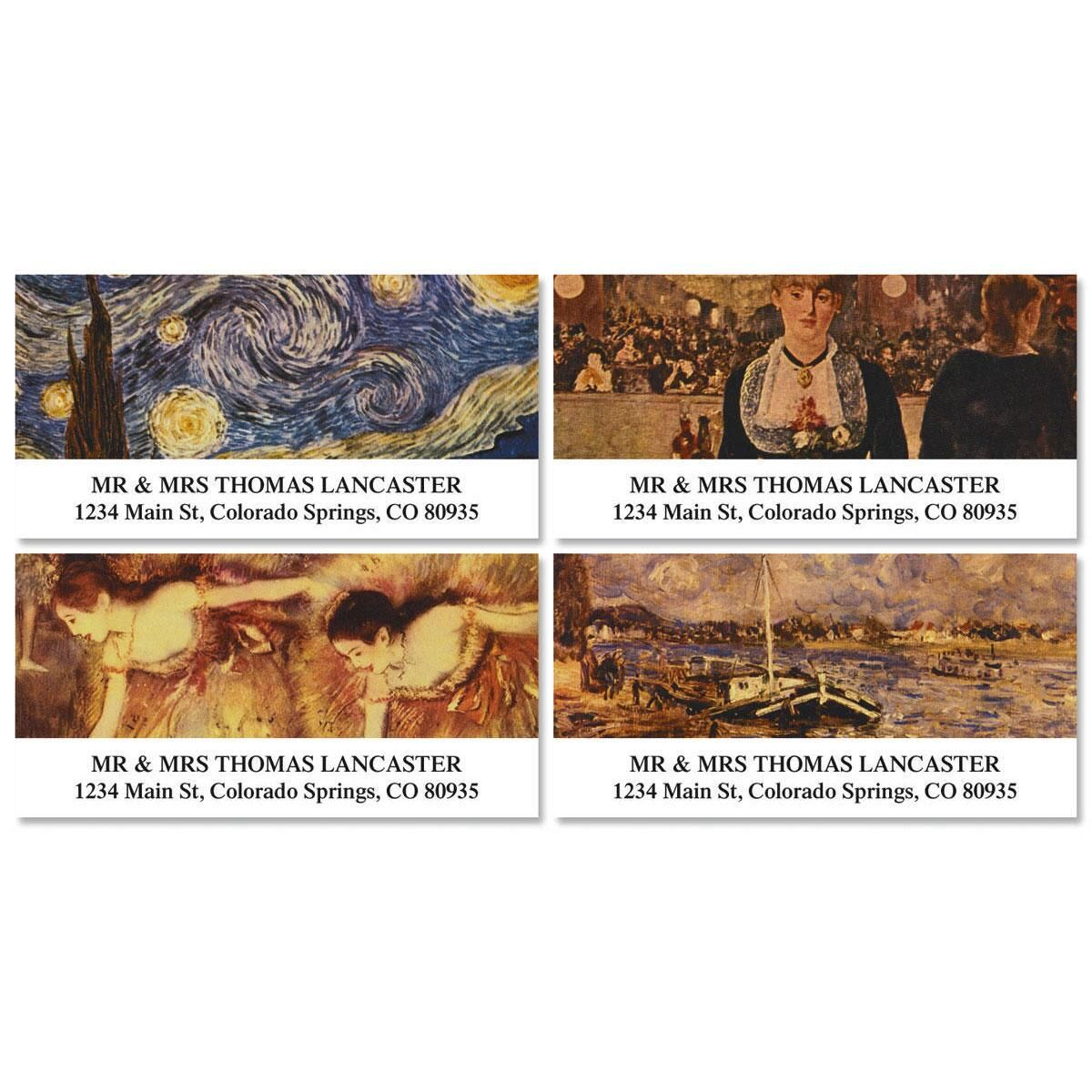 Fine Arts Deluxe Address Labels  (4 designs)