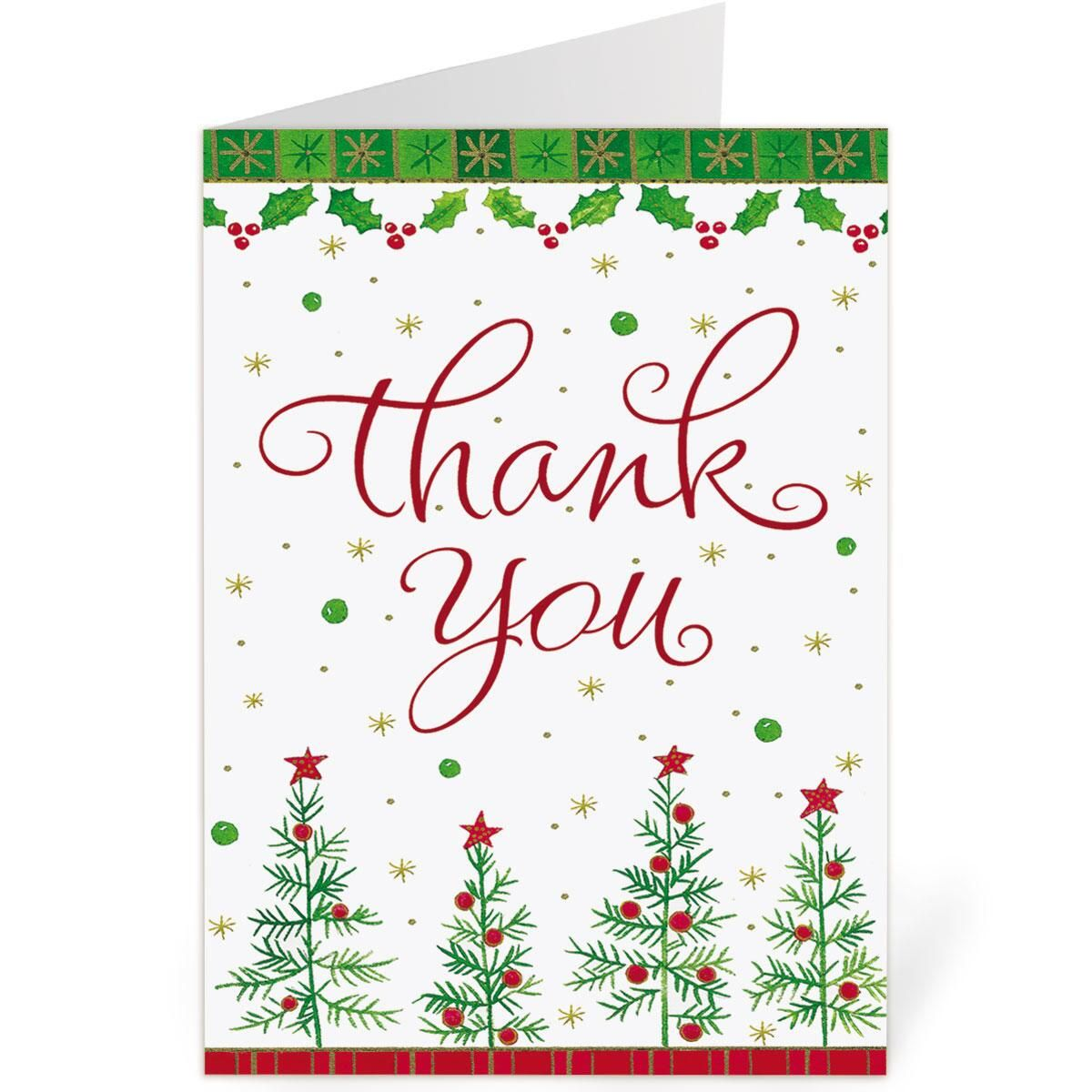 Snowflake Thank You Note Cards