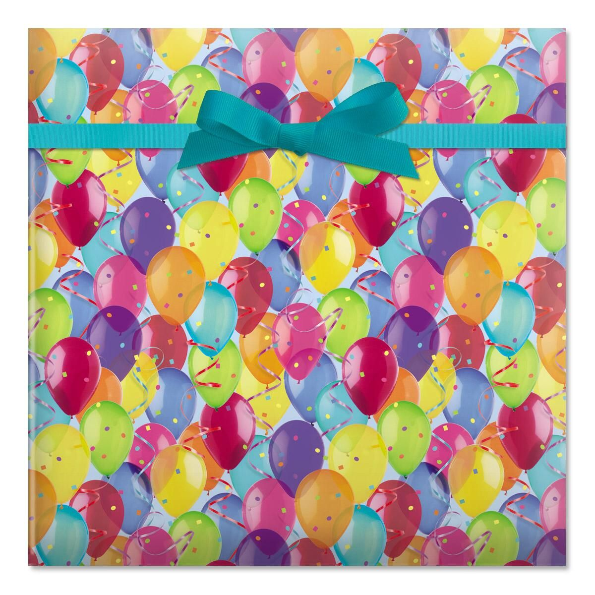 Photo Balloons Rolled Gift Wrap