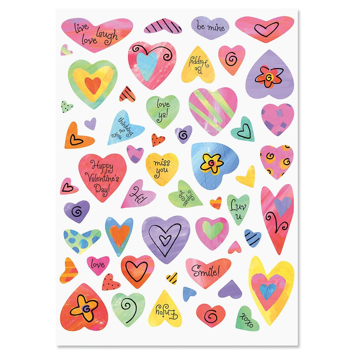 Colorful Heart Stickers