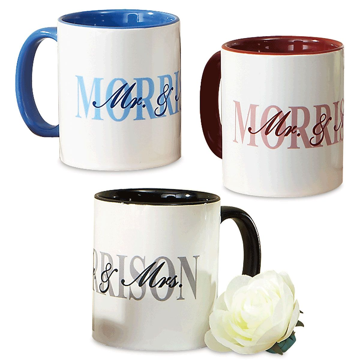 Mr. and Mrs. Personalized Mugs