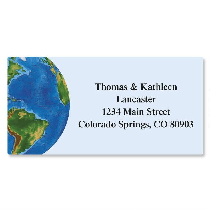 World Map Border Address Labels