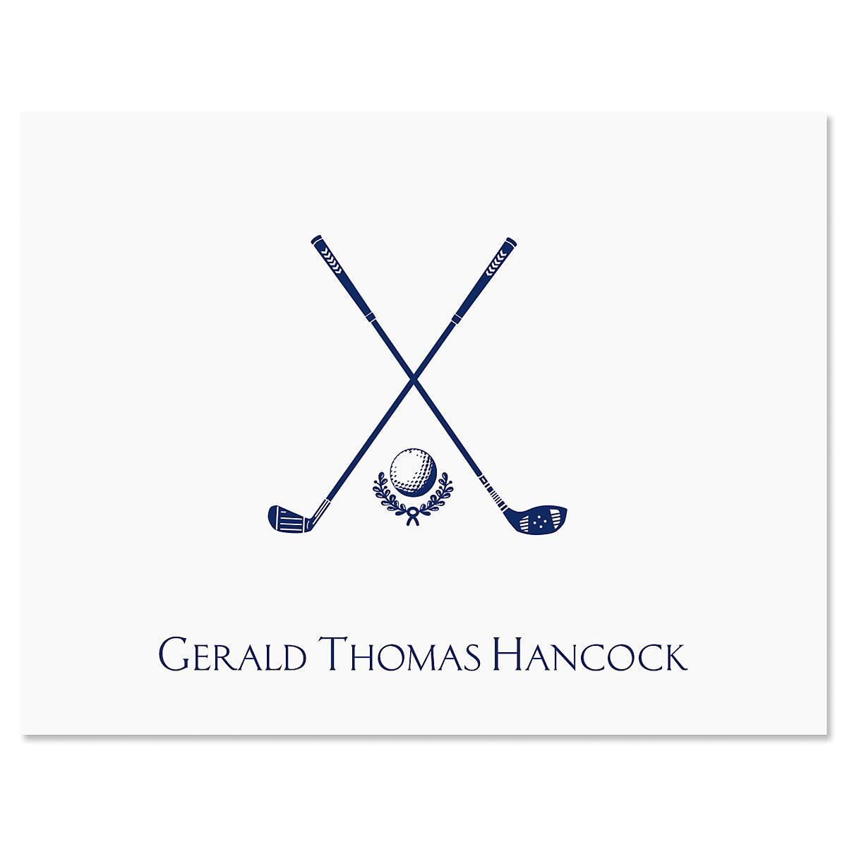 Designer deals club for hancock - Golf Note Cards