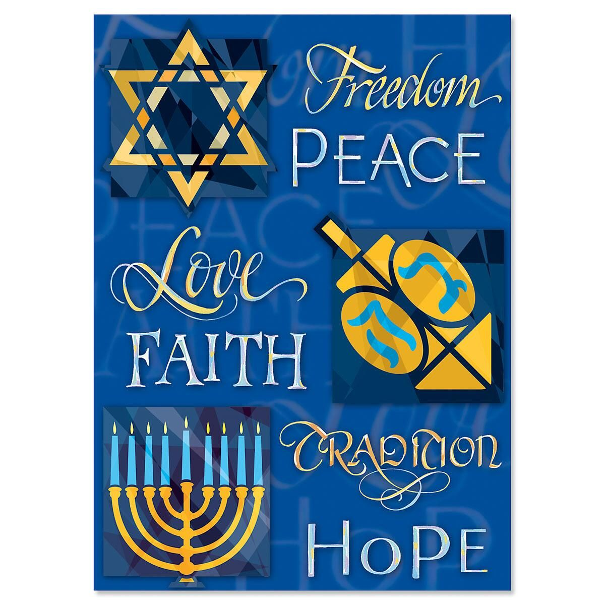 Personalized Hanukkah Wishes Cards