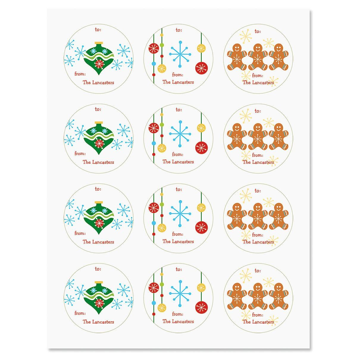 Personalized To/From Christmas Stickers