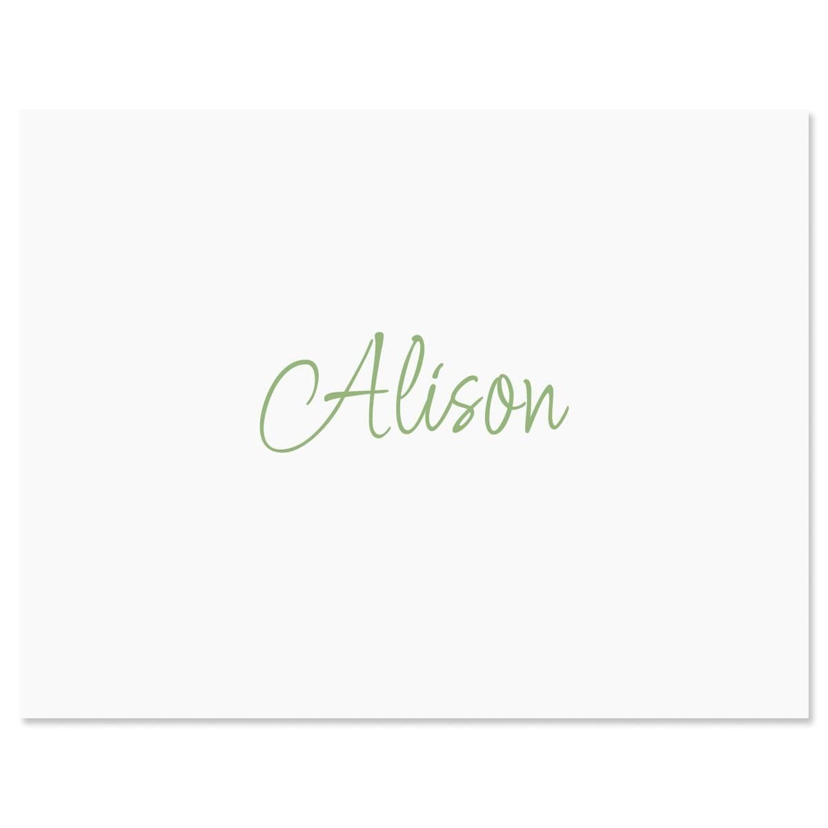 Casual Personalized Note Cards