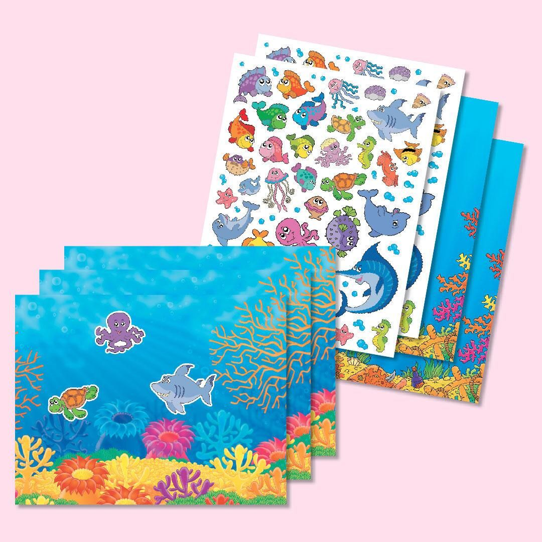 Ocean Adventure Background Scenes and Stickers