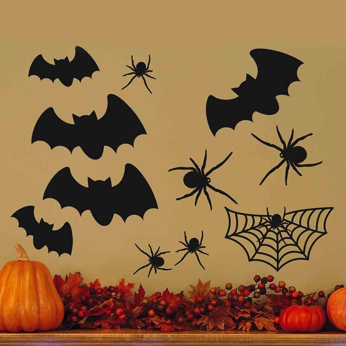 Halloween Vinyl Wall Silhouettes