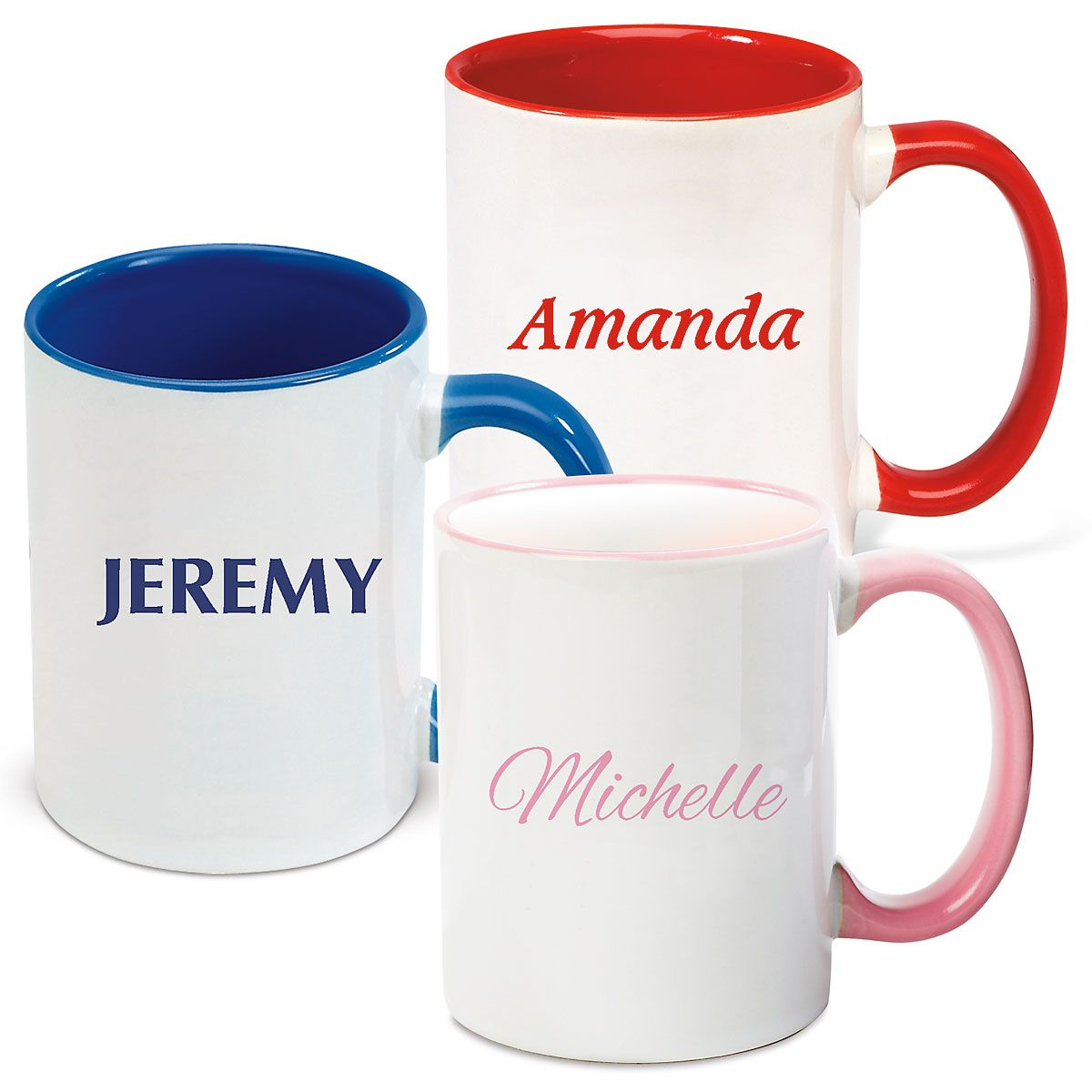 Name Mug in Blue, Red or Pink