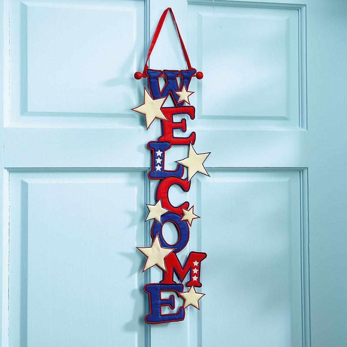 Patriotic Welcome Door Banner