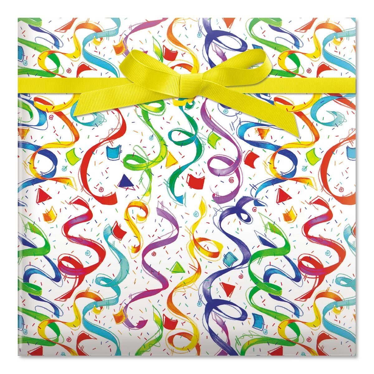 Happy Birthday Confetti Jumbo Rolled Gift Wrap