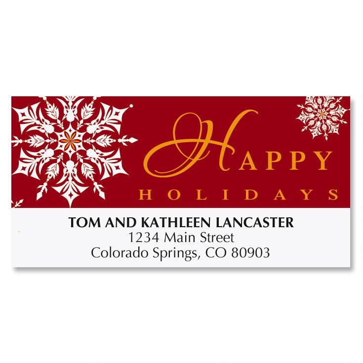Nordic Snowflake Christmas Address Labels