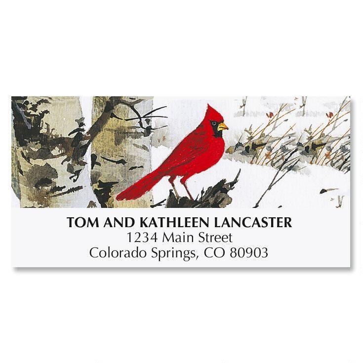 Cardinal Christmas Address Labels