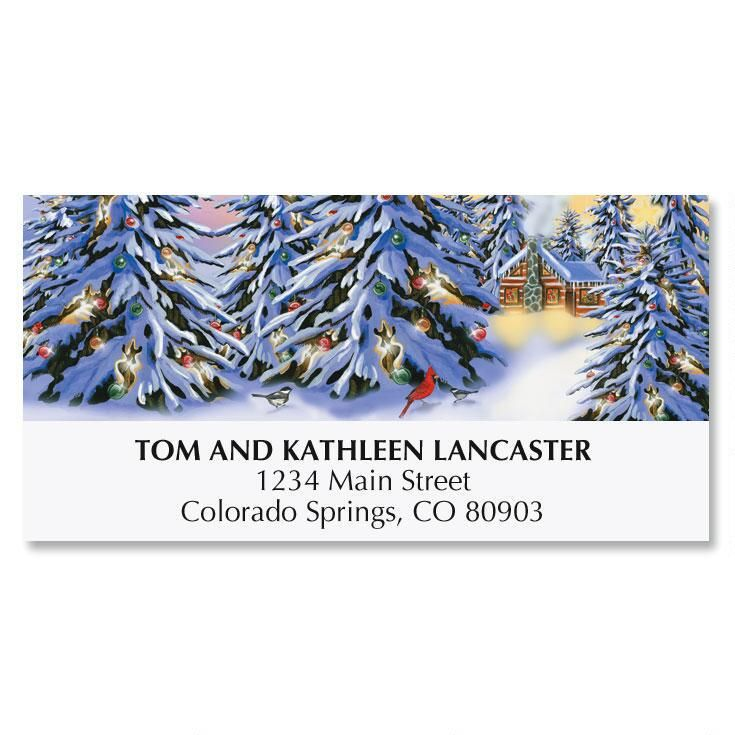 Heart and Home Christmas Address Labels