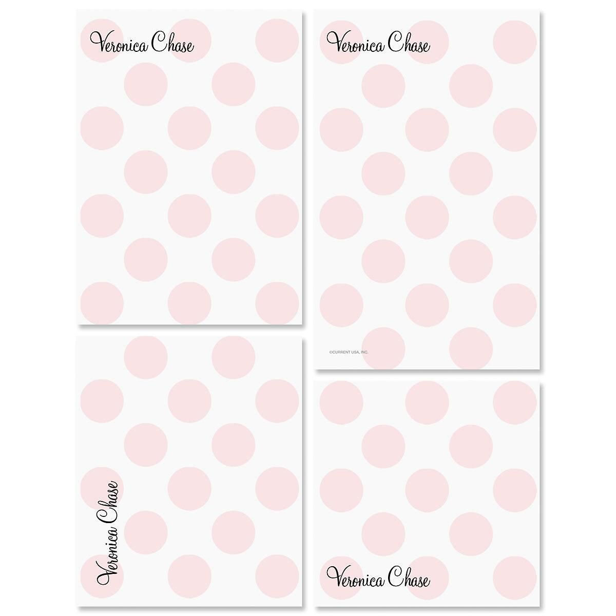 Pink Dots Notepad Set