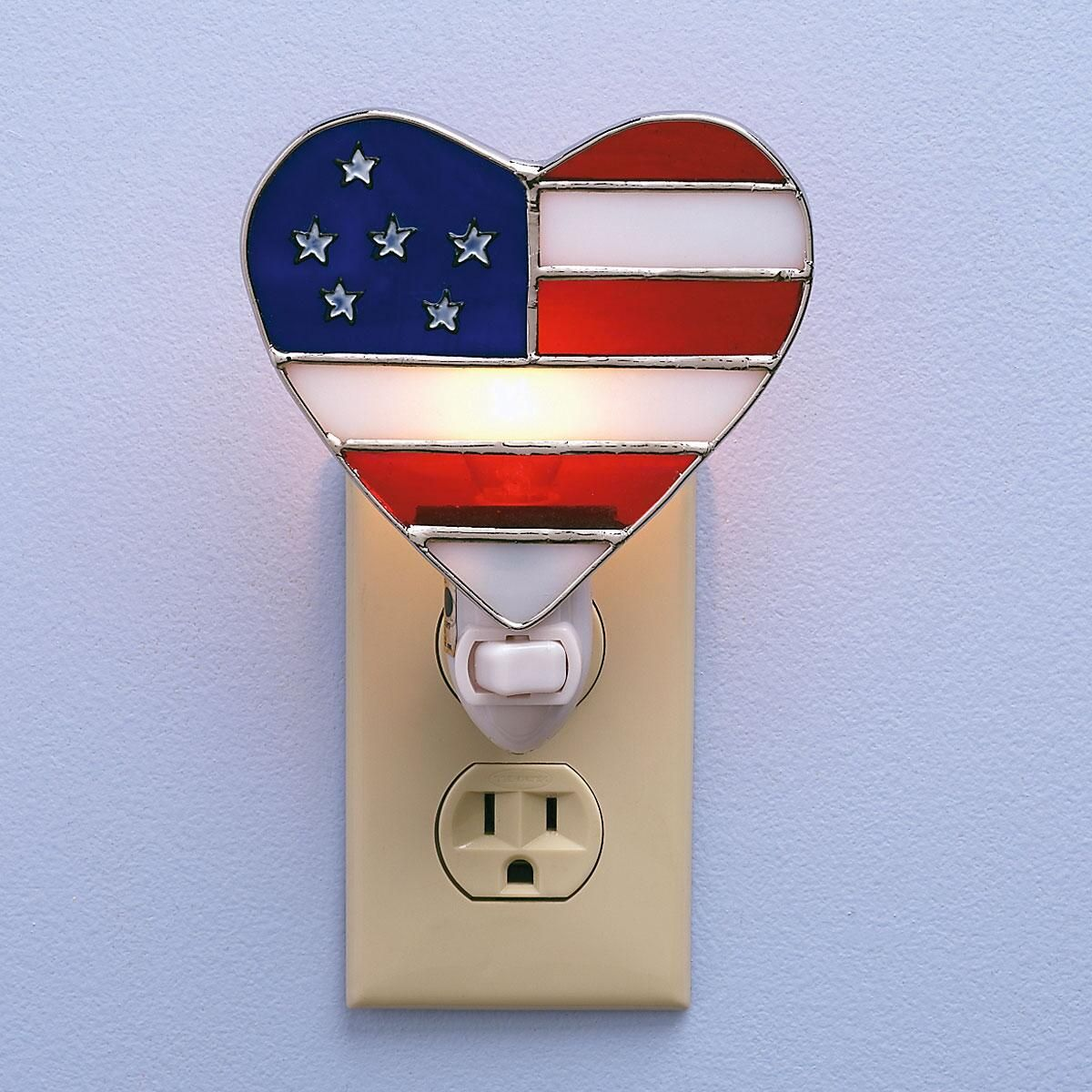 Patriotic Heart Night Light
