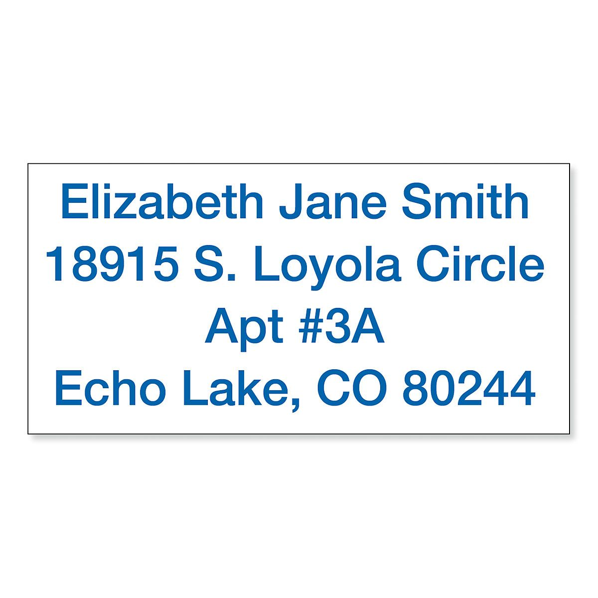 Standard Self-Inking Address Stamp - Blue Ink