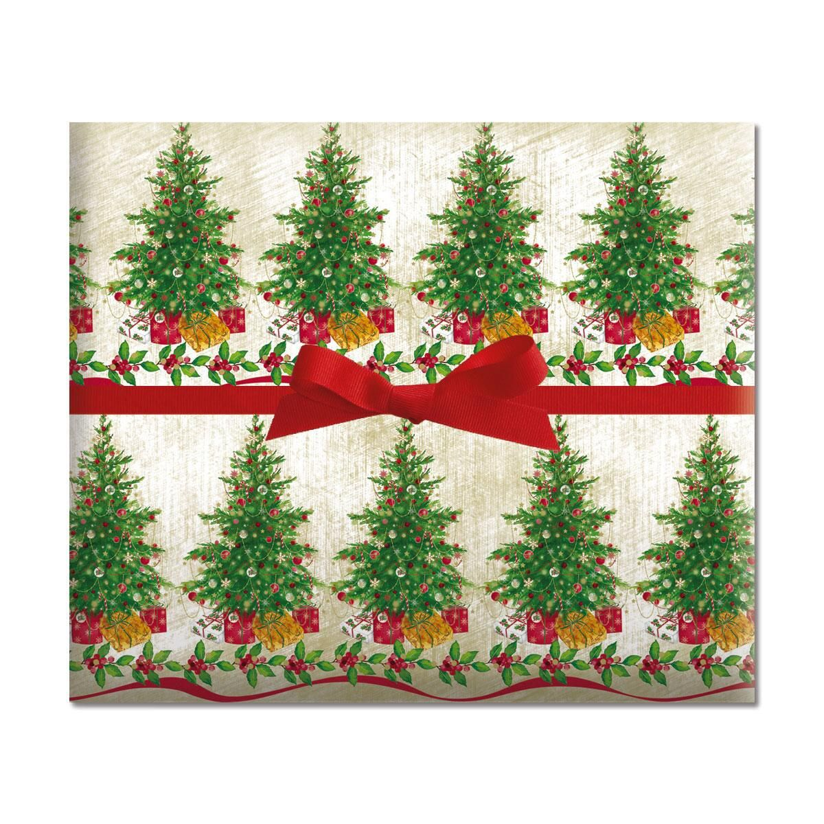 Classic Christmas Tree Jumbo Rolled Gift Wrap