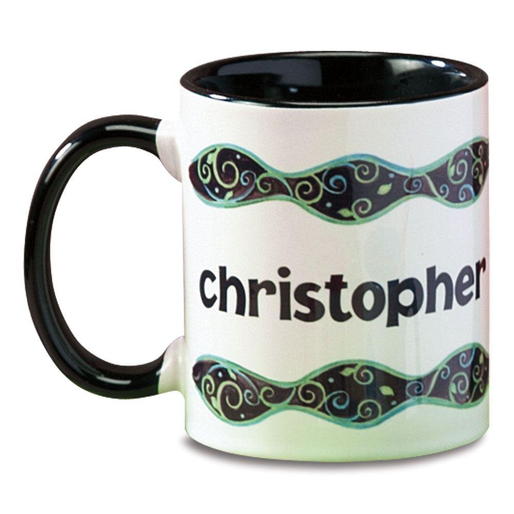 Swirls Name Personalized Mug