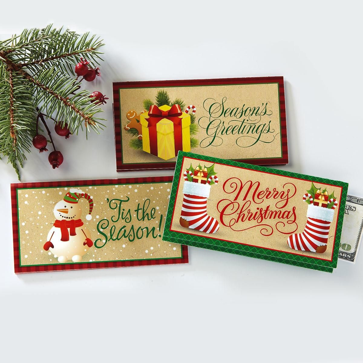 Holiday Season Money Cards