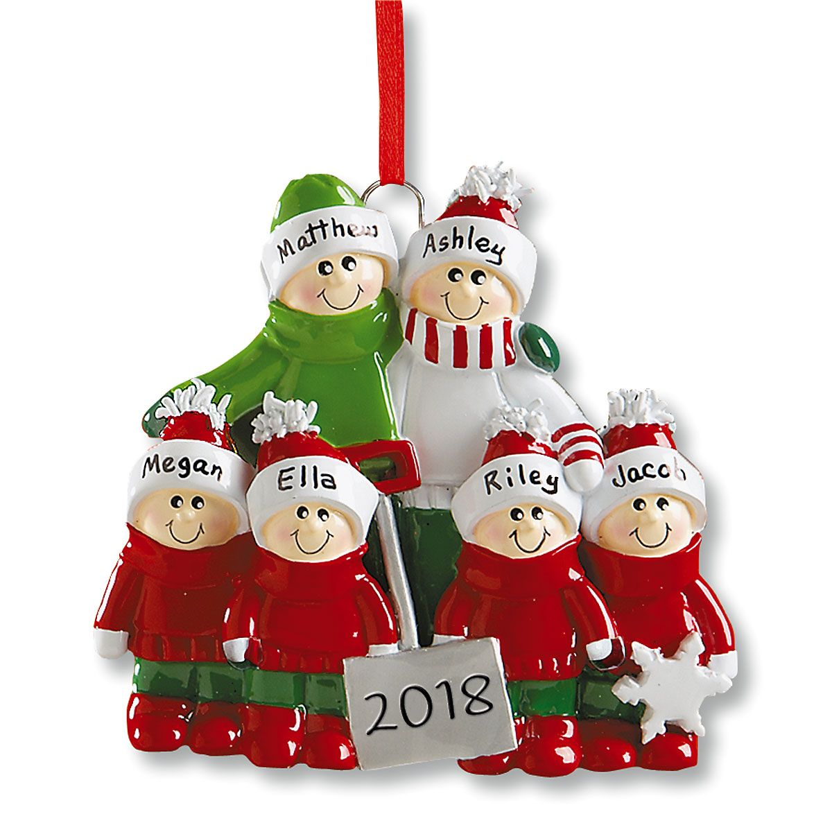 Holiday Snow Shovel Personalized Christmas Ornaments