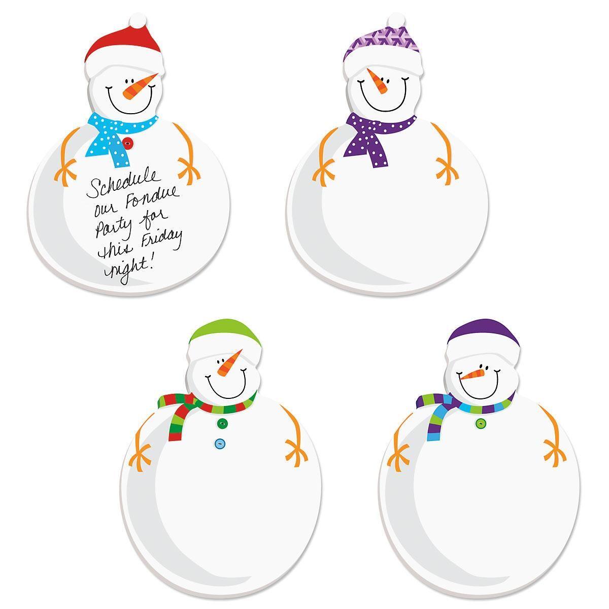 Diecut Snowmen Sticky Notes