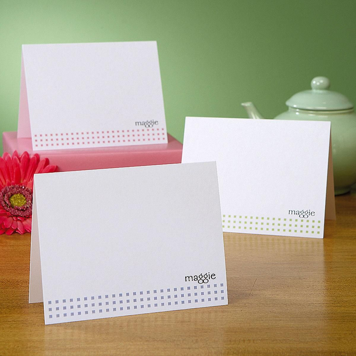 Mini Square Note Cards  (3 Colors)