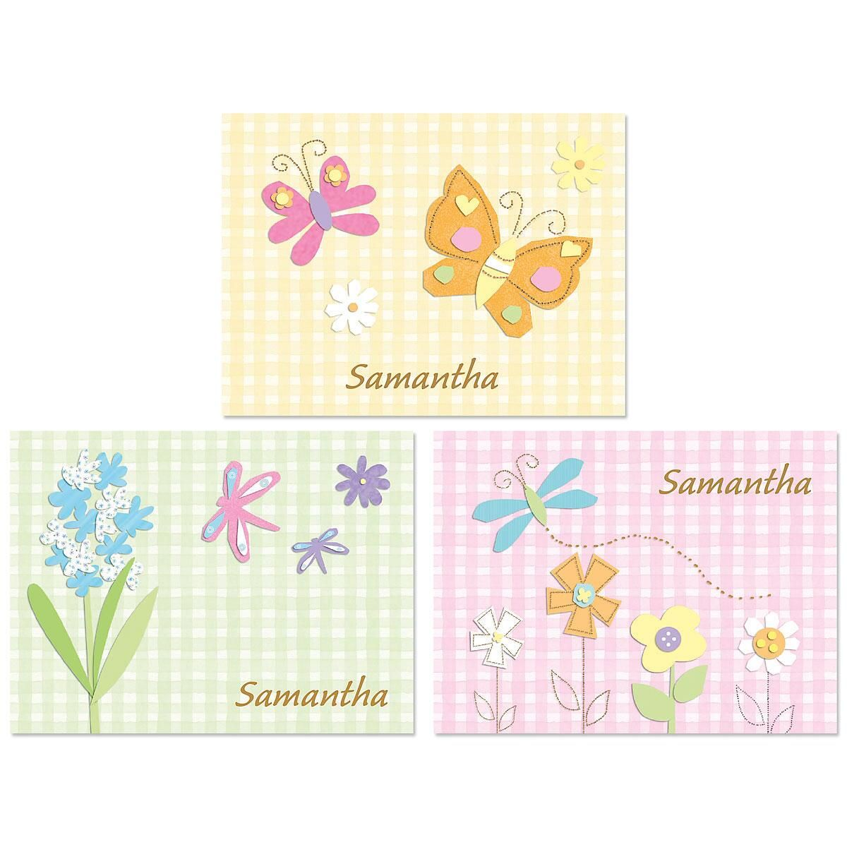 Gingham Note Cards  (3 Designs)