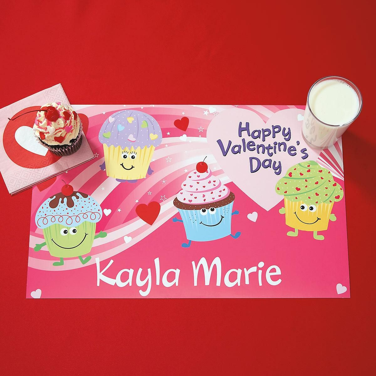 Cupcakes Valentine Placemats
