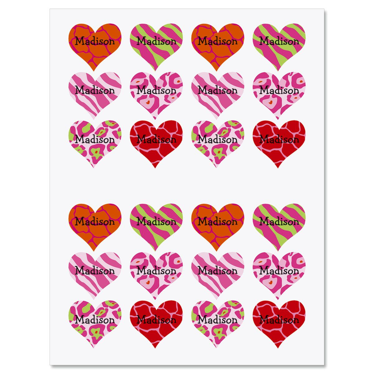 Variety Heart Stickers